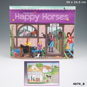Альбом  с наклейками Creative Studio Create your Happy Horses - 4079_B