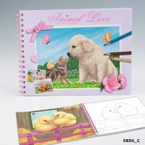 Альбом для раскрашивания Creative Studio Animal Love - 5850