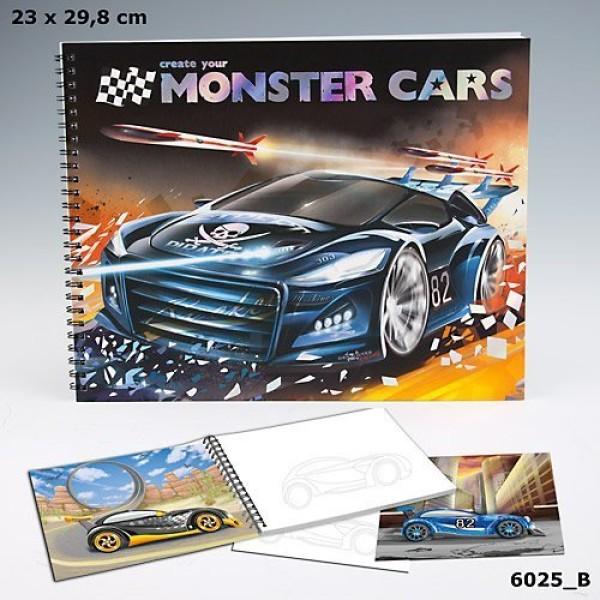 Альбом для раскрашивания c наклейками Monster Cars - 6025_B производства Depesche