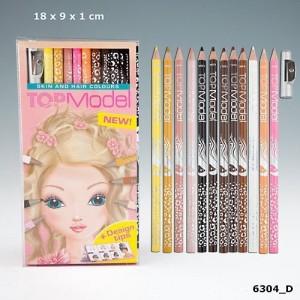 Набор цветных карандашей Раскрась Волосы и Тело моделей TOP Model - 6304_D
