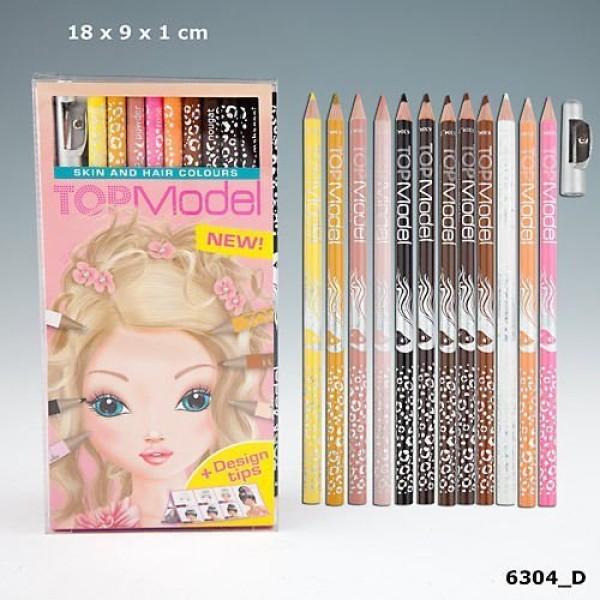 Набор цветных карандашей Раскрась Волосы и Тело моделей TOP Model - 6304_D производства Depesche