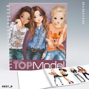 Альбом для раскрашивания Подружки Top Model Create Your Friends - 6657_B