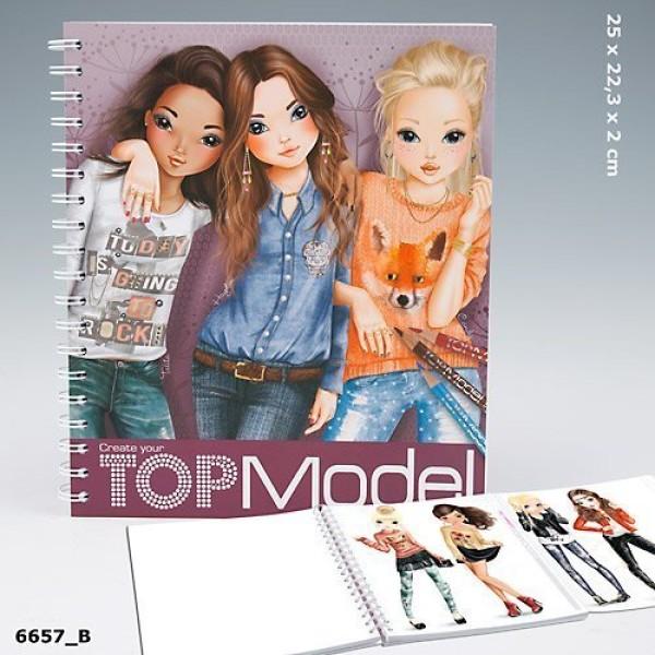 Альбом для раскрашивания Подружки Top Model Create Your Friends - 6657_B производства Depesche