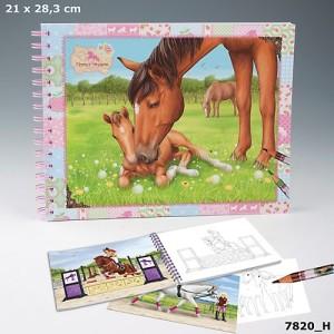 Альбом для раскрашивания с наклейками  Horses Dreams  - 7820_H