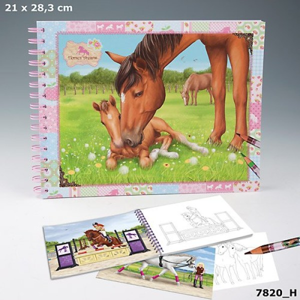 Альбом для раскрашивания с наклейками  Horses Dreams 7820_H