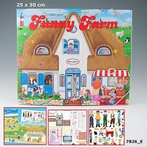 Альбом с наклейками Creative Studio - Создай Веселую ферму - 7826_E