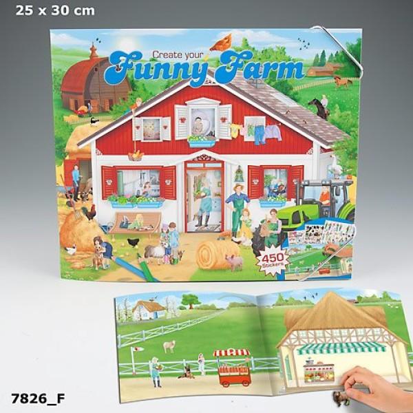 Альбом с наклейками Creative Studio Create your Funny Farm - 7826_F производства Depesche