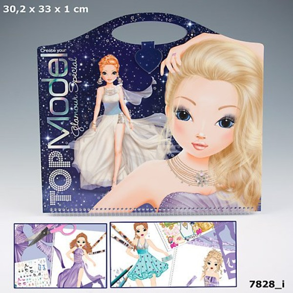 Альбом раскраска TOP Model  Glamour Special - 7828_I