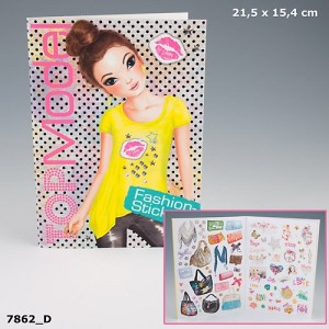 Альбом с наклейками TopModel Fashion Sticker - 7862_D
