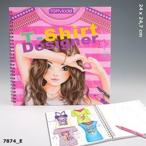 Раскраска для девочек с трафаретами и наклейками TOP Model  T-Shirt Designer - Дизайнер футболок - 7874_E