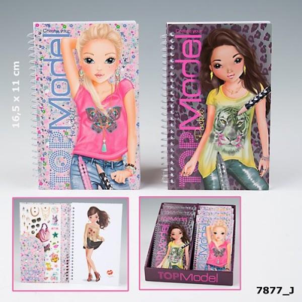 Карманный альбом для раскрашивания Top Model Pocket - 7877_A производства Depesche