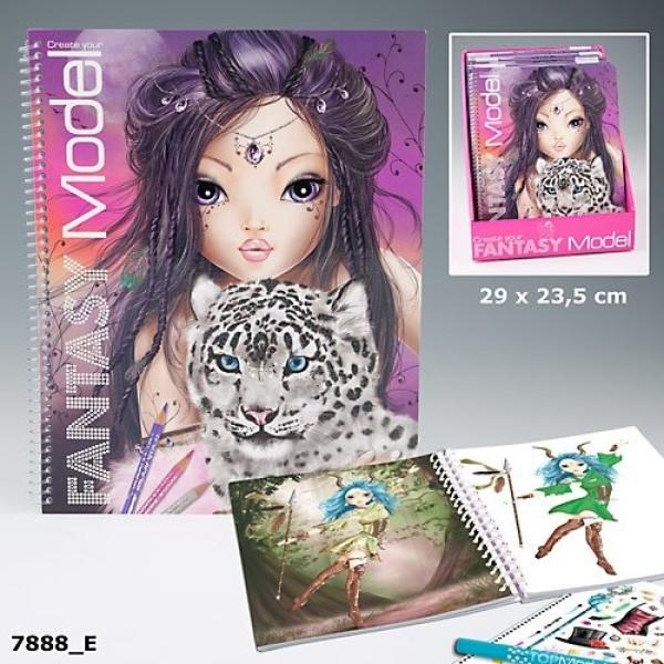 Альбом для раскрашивания Top Model Fantasy - 7888_E производства Depesche