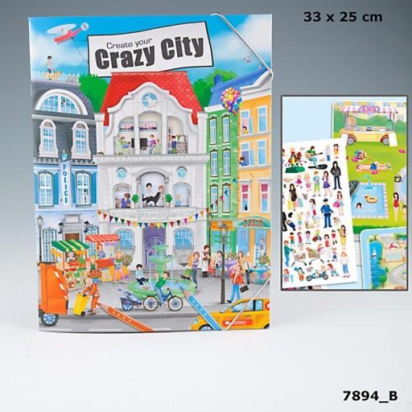 Альбом для раскрашивания c наклейками  Create your Crazy City - 7894_B