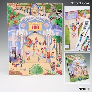 Альбом с наклейками для детей Create your ZOO 7896_B