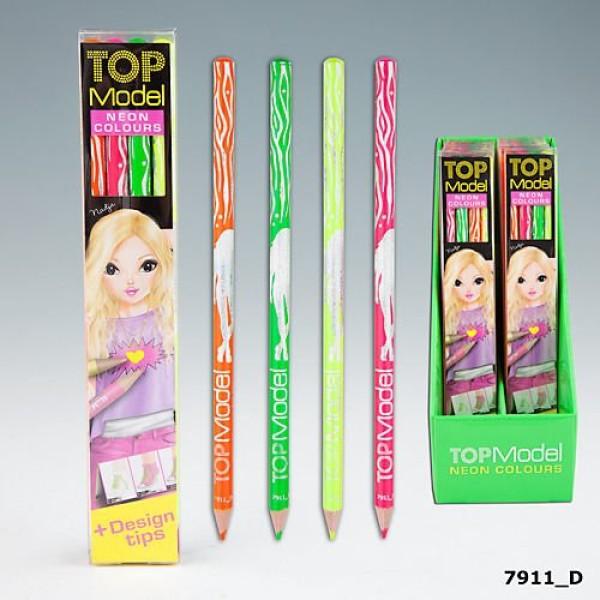 Набор цветных карандашей неоновых оттенков TOP Model - 7911_D