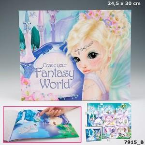 Альбом с наклейками  Fantasy World - Создай свой мир фантазий - 7915_B