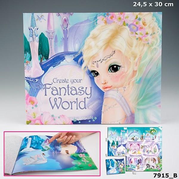 Альбом с наклейками  Fantasy World - Создай свой мир фантазий - 7915_B производства Depesche
