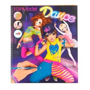 Раскраска TOPModel Dance You Tube с наклейками и трафаретами - 7937_F
