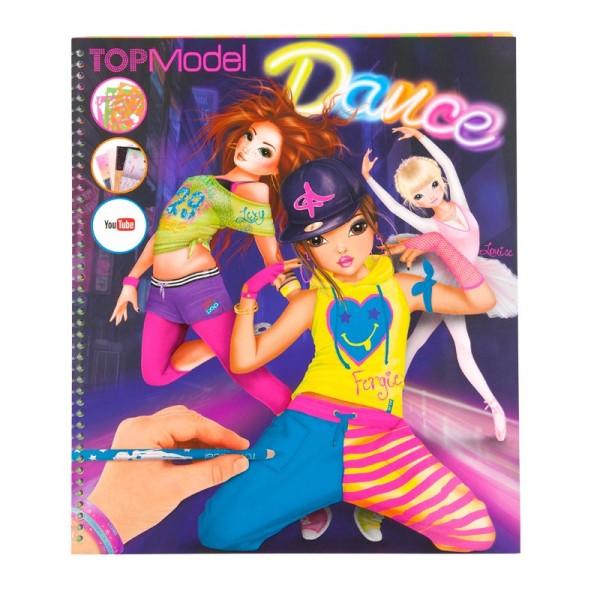 Раскраска TOPModel Dance You Tube с наклейками и трафаретами - 7937_F производства Depesche