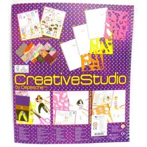 Красочная раскраска с наклейками, трафаретами и текстурной бумагой TOP Model Dance - 7937_D производства Depesche