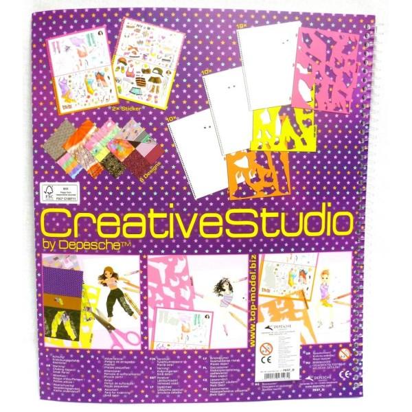 Красочная раскраска с наклейками, трафаретами и текстурной бумагой TOP Model Dance - 7937_D