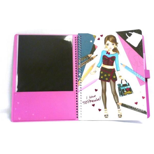 Альбом раскраска с волшебной бумагой и маркером TOP Model Magic Fun -7941_C