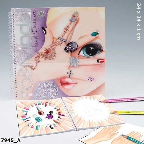 Альбом для раскрашивания TOP Model Hand Design 7945_A