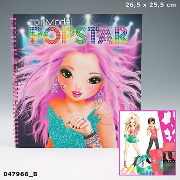 Раскраска для девочек с наклейками TOP Model PopStar 7966_B