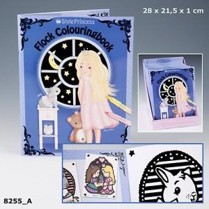 Альбом для раскрашивания с бархатным контуром My Style Princess - 8255_A