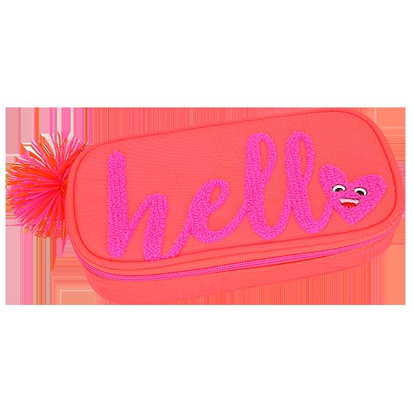 Пенал неоновый оранжевый без наполнения HELLO TOPModel - 10120_A производства Depesche