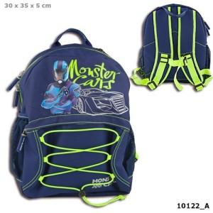 Рюкзак школьный, синий Monster Cars - 10122_A