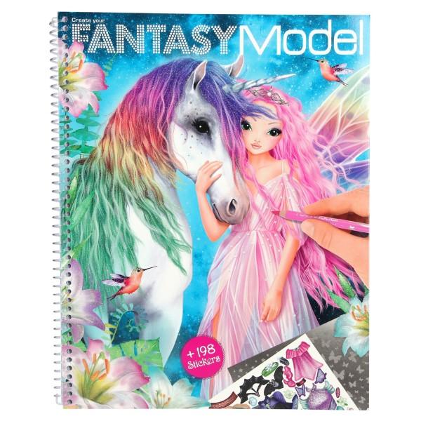 Альбом для раскрашивания Модель Фэнтази TOPModel Fantasy - 10127_A