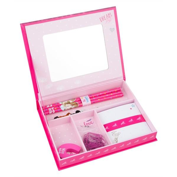 Набор для письма в коробочке Лошадь, розовый Miss Melody - 10132_A