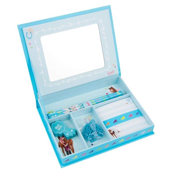 Набор для письма в коробочке, голубой Miss Melody - 10133_A