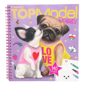 Альбом TOPModel для раскрашивания Собачки - 10190