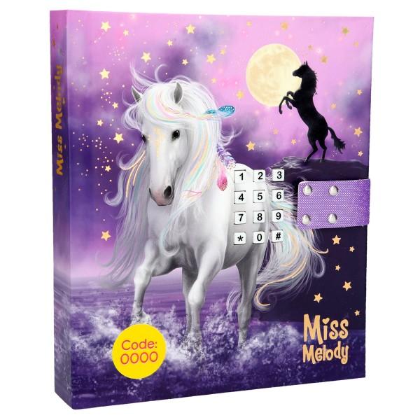 Дневник с кодом и музыкой, фиолетовый Miss Melody - 10236_A