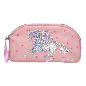Пенал-косметичка без наполнения, пайетки, розовый Miss Melody - 10285_A