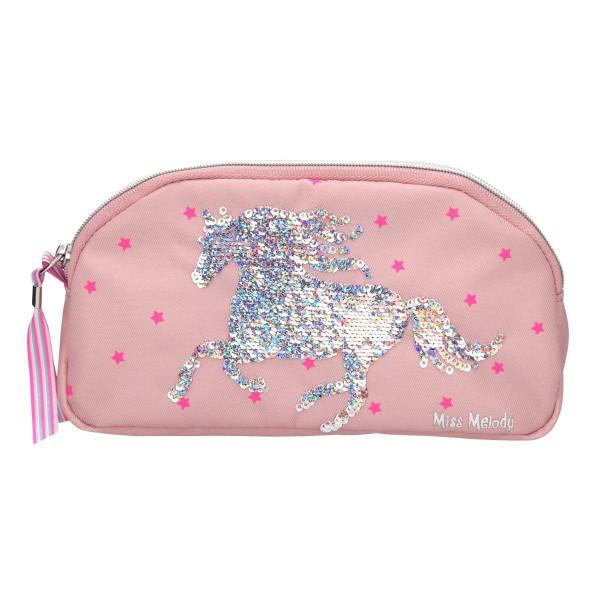 Пенал-косметичка без наполнения, пайетки, розовый Miss Melody - 10285_A производства Depesche