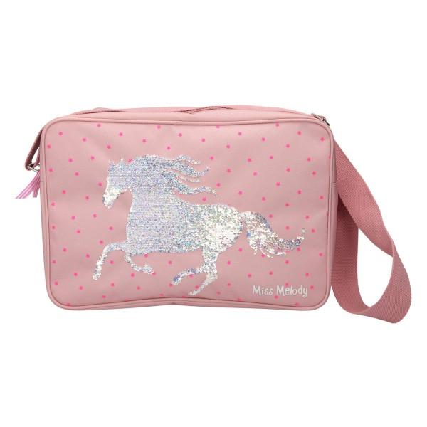 Сумка на плечо, пайетки, розовая Miss Melody - 10286_A производства Depesche