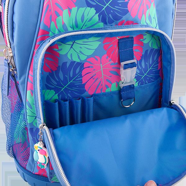 Рюкзак школьный на колесах Тропики, голубой TOPModel - 10422_A