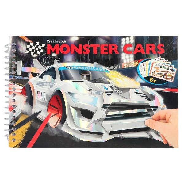 Monster Cars Альбом для раскрашивания, мини - 10631