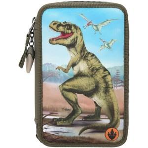 Пенал с наполнением и подсветкой Динозавр Dino World -  0410642 производства Depesche