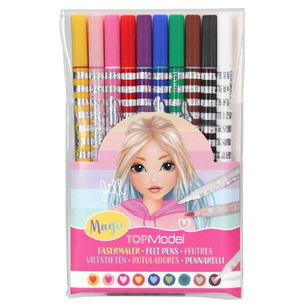 Фломастеры TOPModel цветные Волшебные, 10 цветов - 10724 производства Depesche