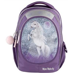 Рюкзак Miss Melody школьный Блестки, фиолетовый - 0410776/0010776