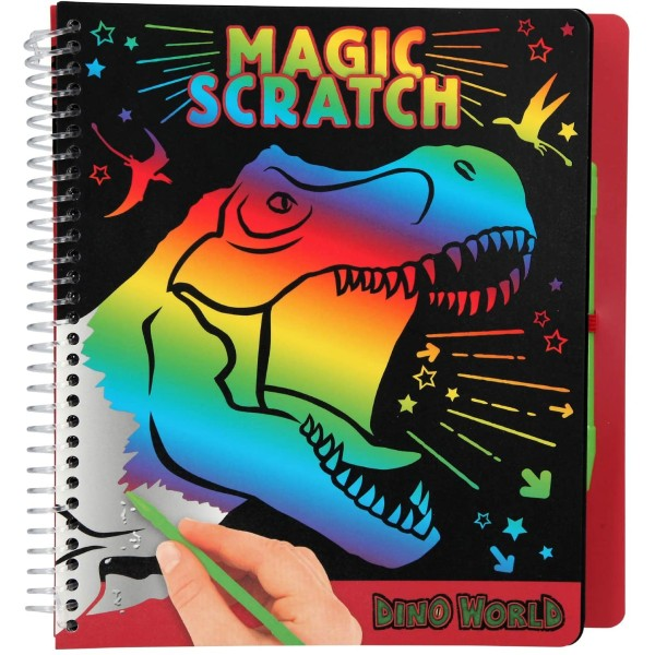 Альбом для творчества Dino World Волшебное царапание -10833