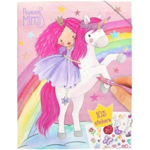 Альбом Princess Mimi для раскрашивания с наклейками - 0410870