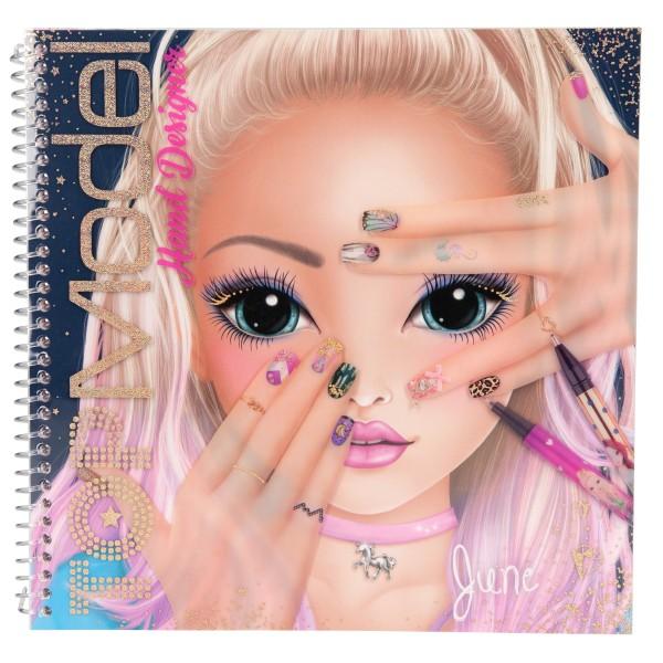 Раскраска TOPModel Дизайн ногтей - 10929