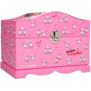 Шкатулка TOPModel с подсветкой, розовая - 0410947/0010947 производства Depesche