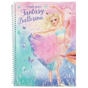 Альбом TOPModel Fantasy для раскрашивания Балерина - 0411051/0011051