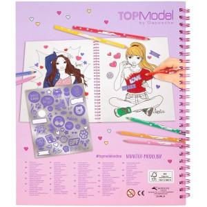 Альбом TOPModel для раскрашивания с пайетками - 0411146_A производства Depesche